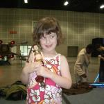 Saffy with her Slave Leia doll that she then promptly lost