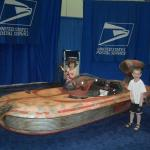 The kids with a landspeeder