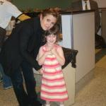 Saffy with Carrie Fisher (Princess Leia)