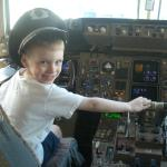 Liam at the controls