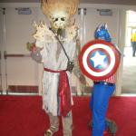 Pirates of the Caribbean creature and Captain America finally meet