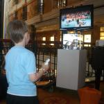 Liam plays Wii Boxing