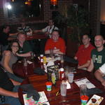 Wed night dinner: John, Ally, Elliot, Alec, Jon, Art & Brad