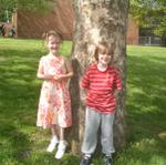 Saffy & Liam at school
