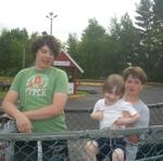 Alex, Liam & Matt at the go kart track