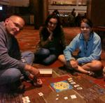 Art, Ana, Bianca & Thalia play Travel Settlers of Catan