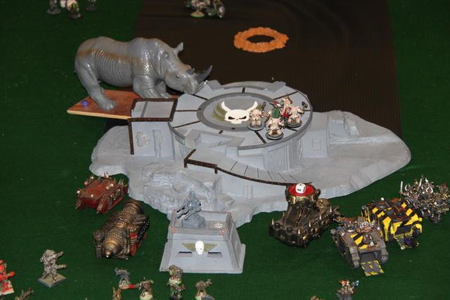 I have no idea why a giant Rhino is attacking a spaceport