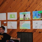 Camper's drawings; most kids drew outdoor scenes...