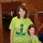 Saffy & her camp counselor, Ms. Laurie