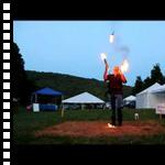 Juggling Fire at the Midsummer Magick Faerie Festival