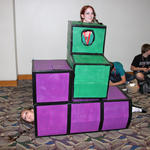 The Tetris girls try a different configuration