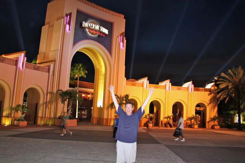 Universal Studios at night