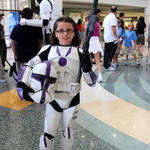 Young purple trooper