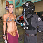 Slave Leia & TIE Fighter pilot