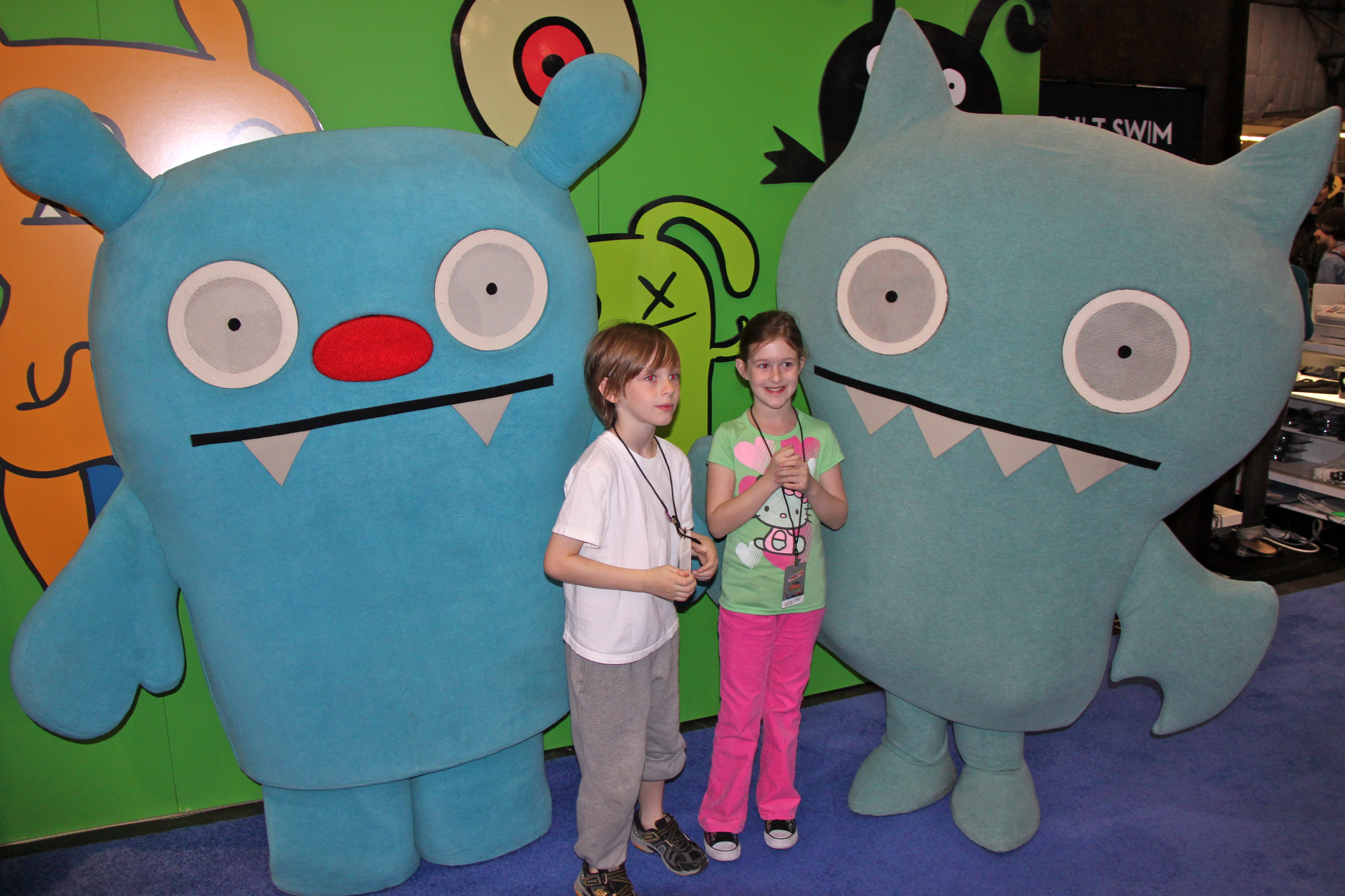 Liam & Saffy with Uglydolls