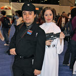 Imperial Officer & Princess Leia