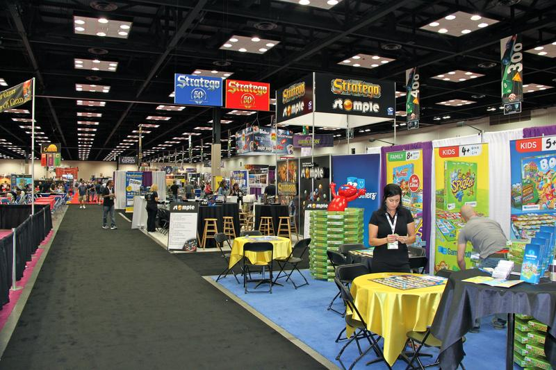 The exhibit hall before opening